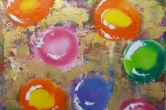 Mardi Gras Beads 60x60cm