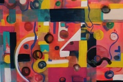 Mixed Media on canvas 100x100cm Unframed £800.00 + shipping