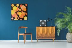 Acrylics on canvas 100x100cm Unframed £550.00 + shipping